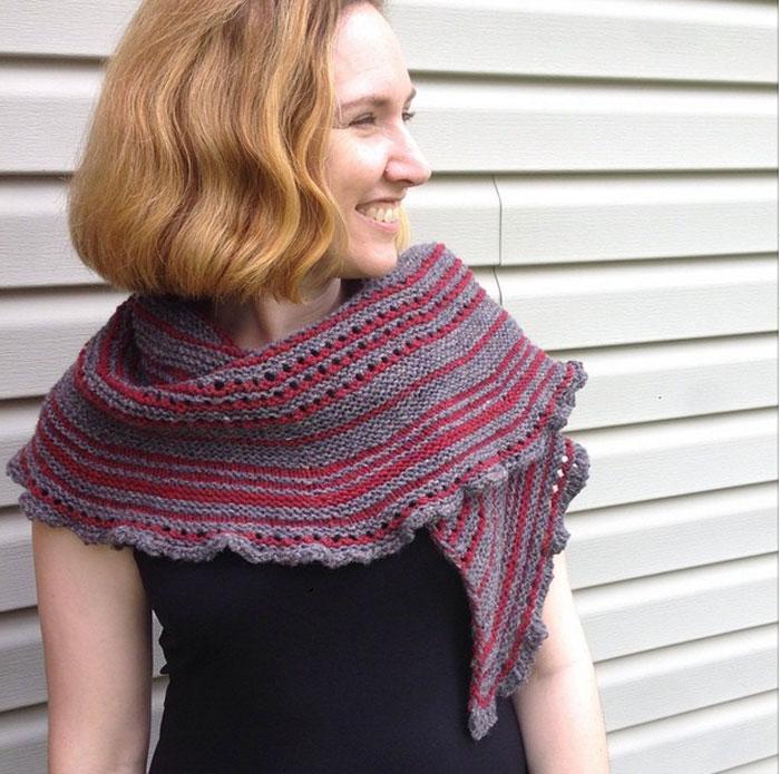 Shuffle Shawl Knitting Pattern Spatial H
